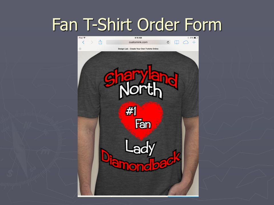 Fan T-Shirt Order Form