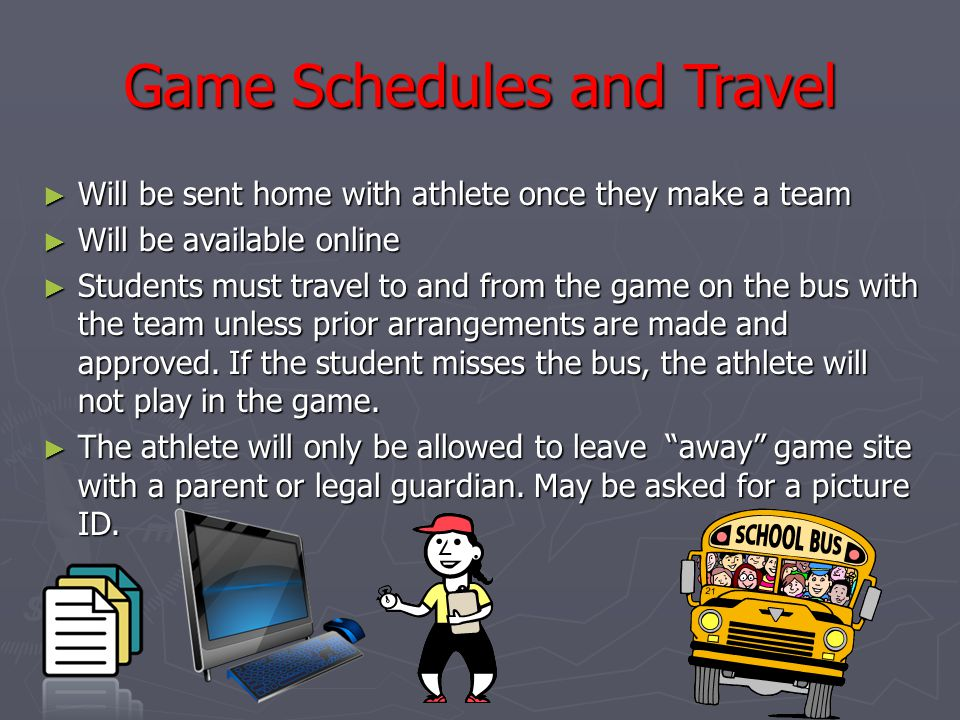 Game Schedules and Travel