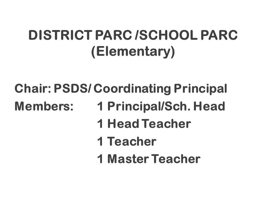 DISTRICT PARC /SCHOOL PARC (Elementary)
