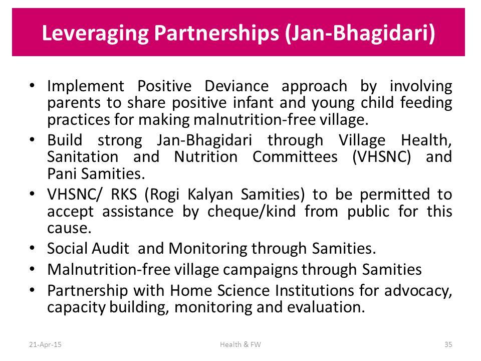 Leveraging Partnerships (Jan-Bhagidari)