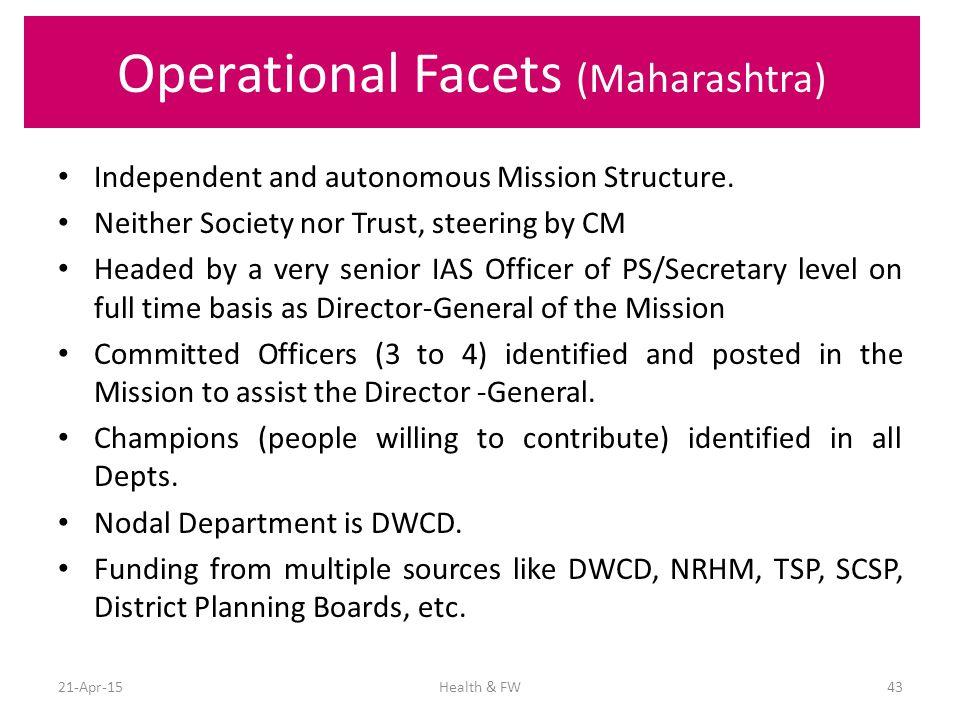 Operational Facets (Maharashtra)