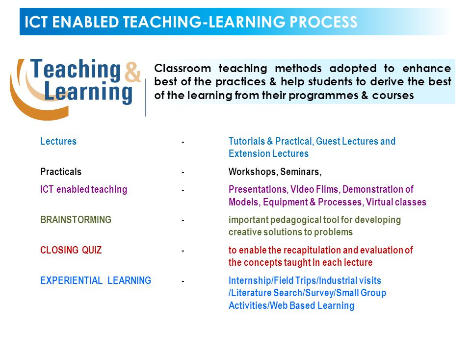 ICT ENABLED TEACHING-LEARNING PROCESS