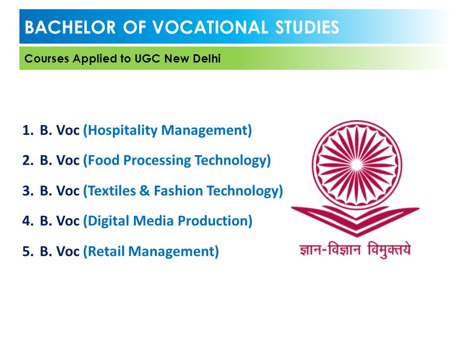 BACHELOR OF VOCATIONAL STUDIES