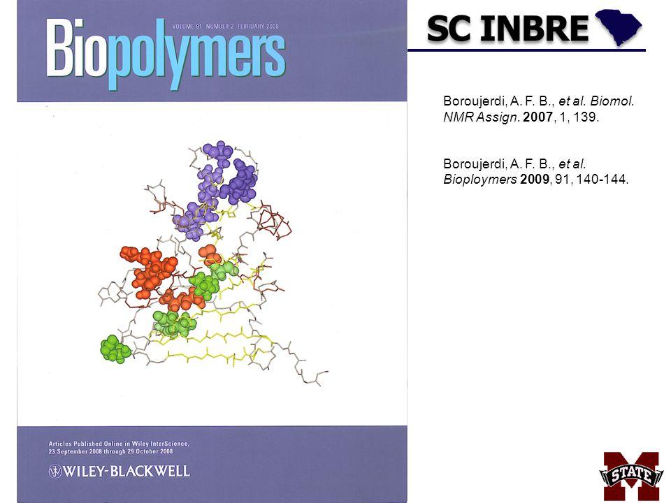 Boroujerdi, A. F. B., et al. Biomol. NMR Assign. 2007, 1, 139.