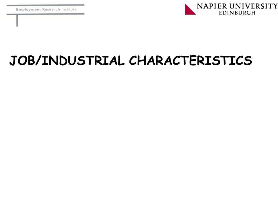 JOB/INDUSTRIAL CHARACTERISTICS