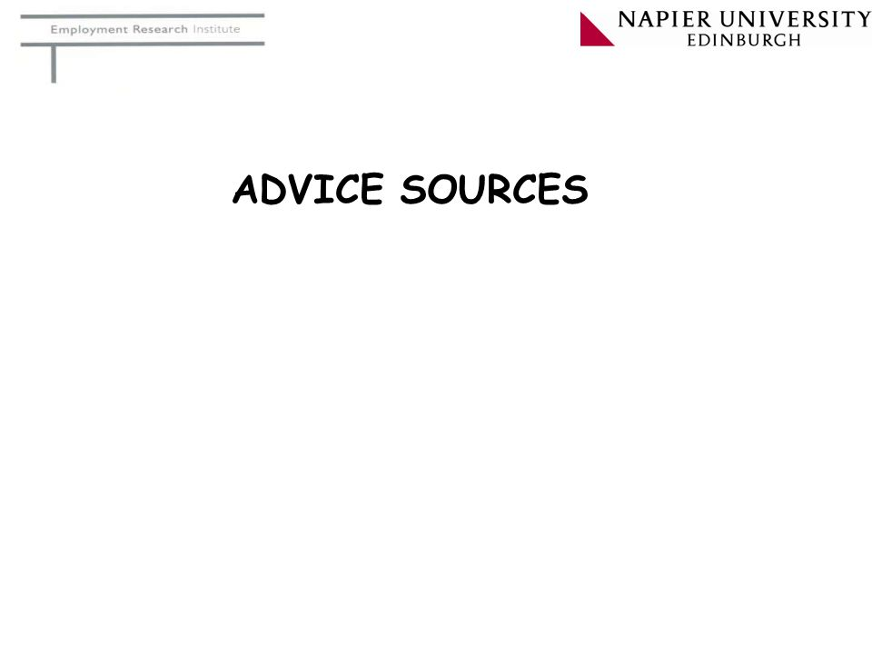 ADVICE SOURCES