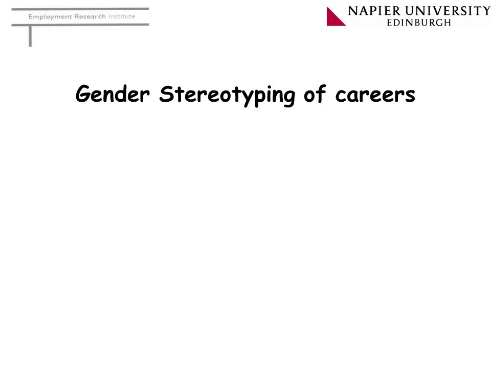 Gender Stereotyping of careers