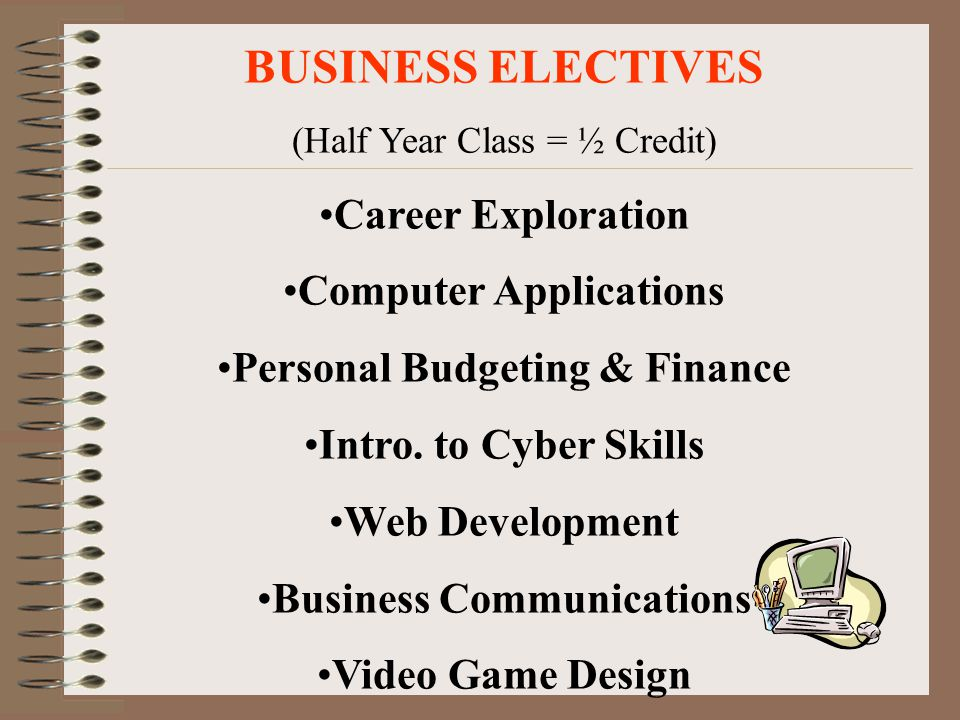 BUSINESS ELECTIVES Career Exploration Computer Applications