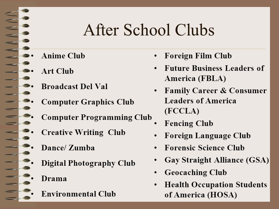 After School Clubs Anime Club Art Club Broadcast Del Val