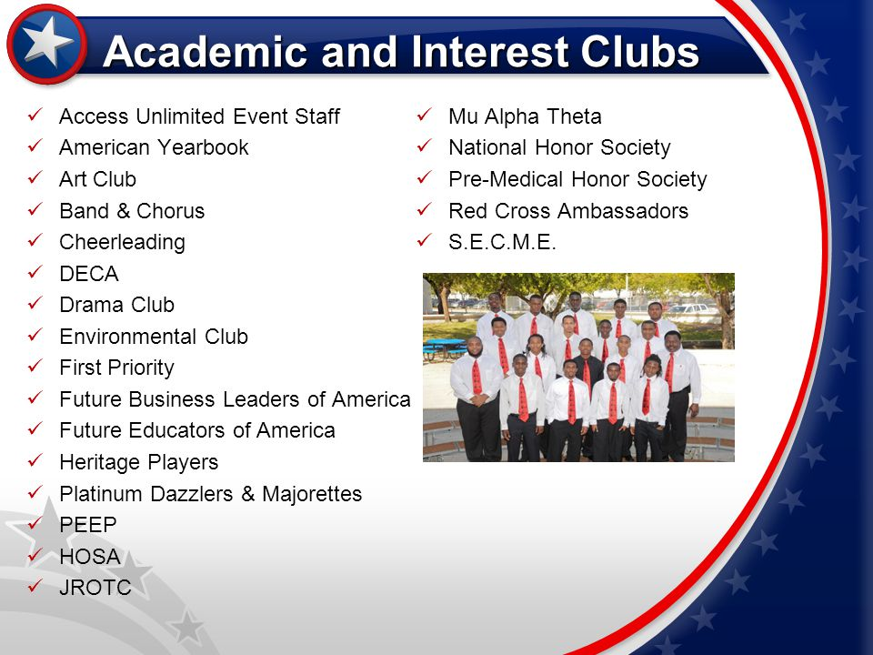 Academic and Interest Clubs