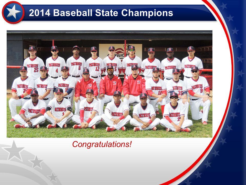 2014 Baseball State Champions