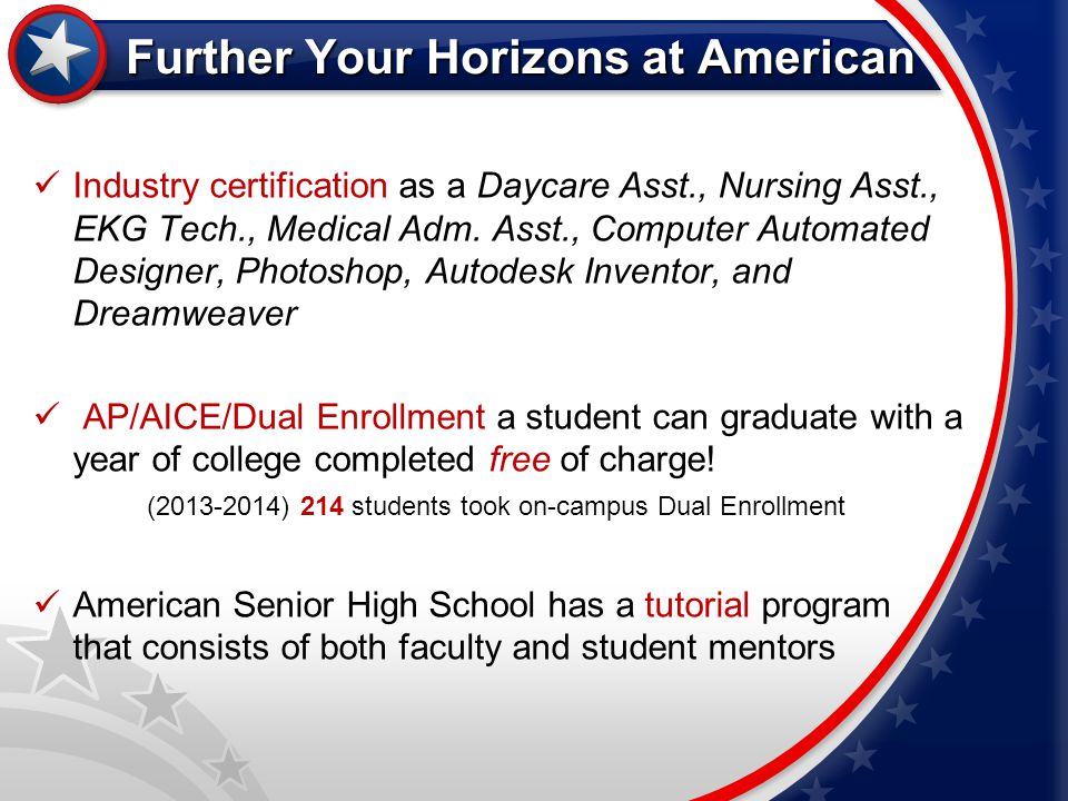 Further Your Horizons at American
