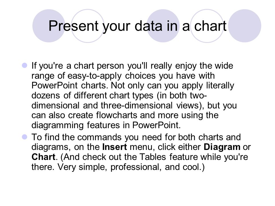 Present your data in a chart