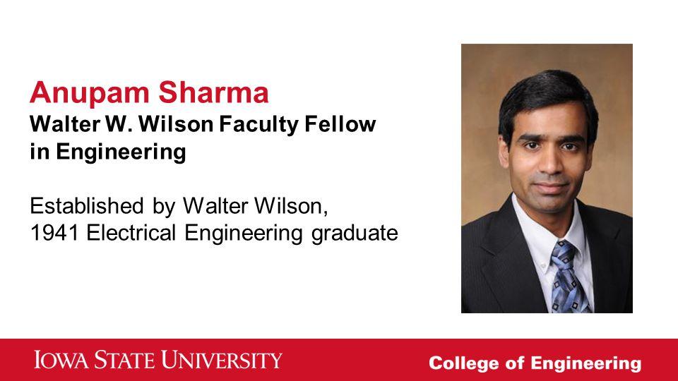 Anupam Sharma Walter W.