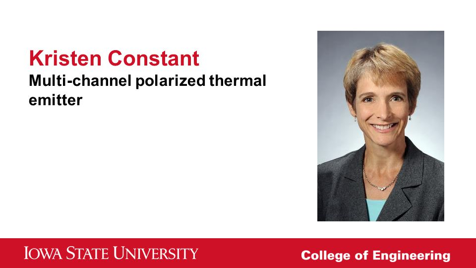 Kristen Constant Multi-channel polarized thermal emitter