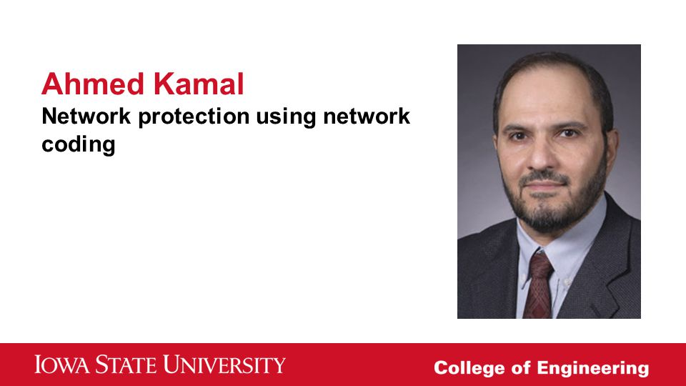 Ahmed Kamal Network protection using network coding