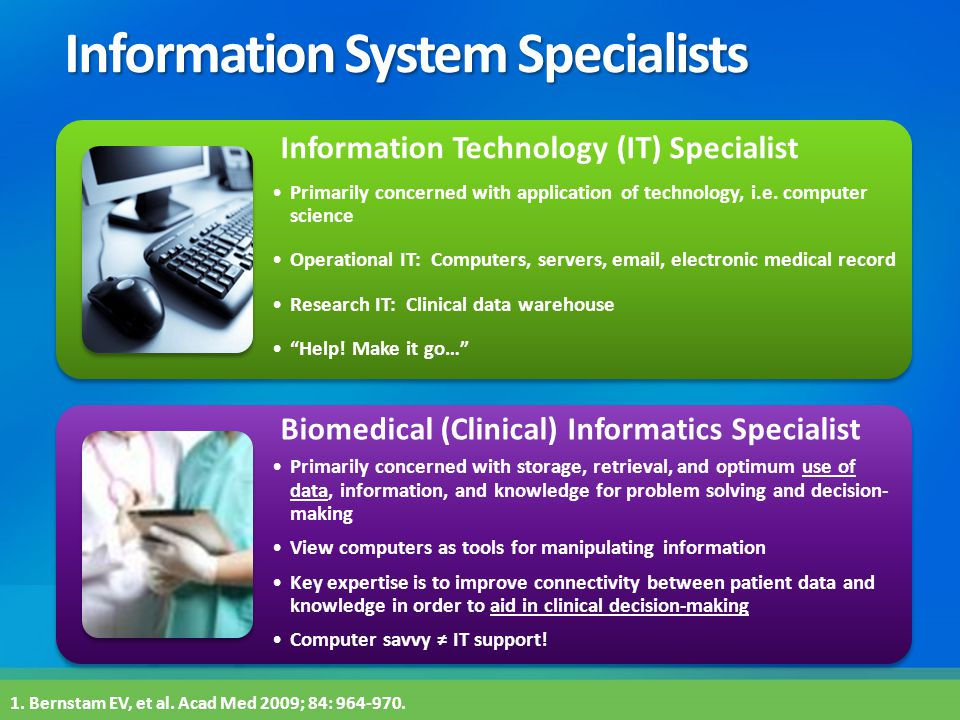 Information System Specialists