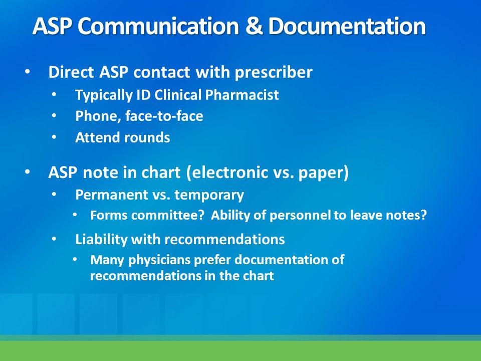 ASP Communication & Documentation