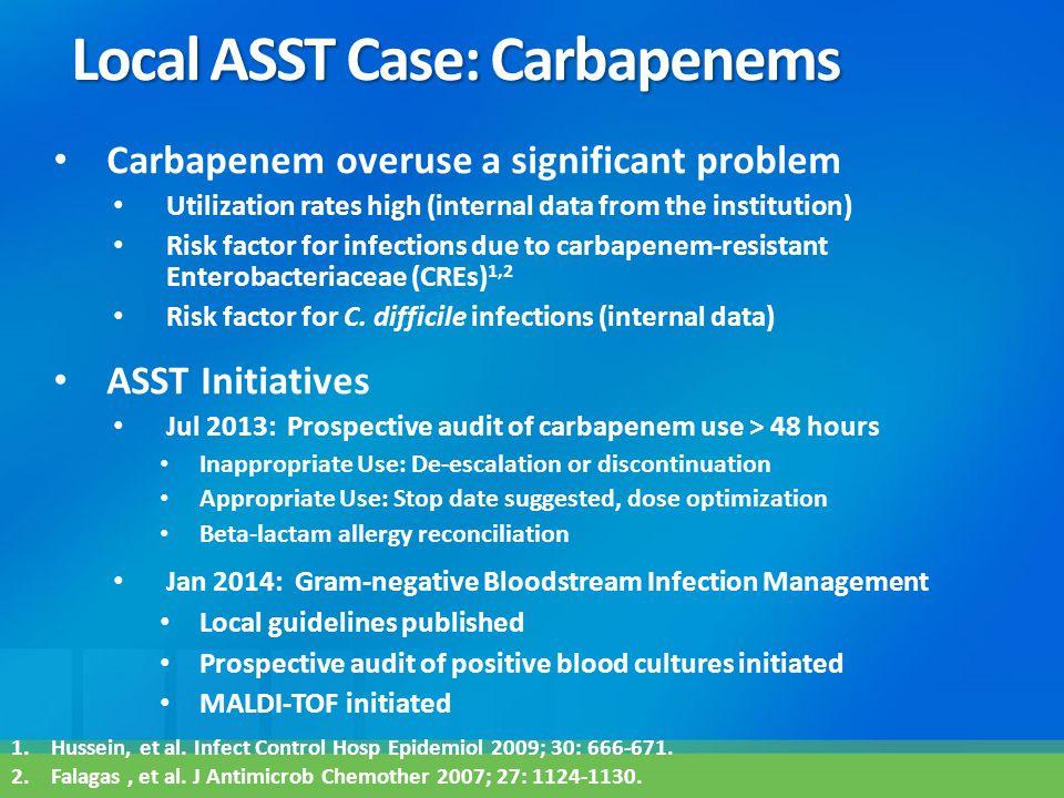 Local ASST Case: Carbapenems