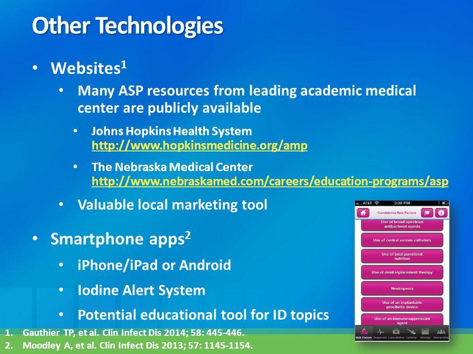 Other Technologies Websites1 Smartphone apps2