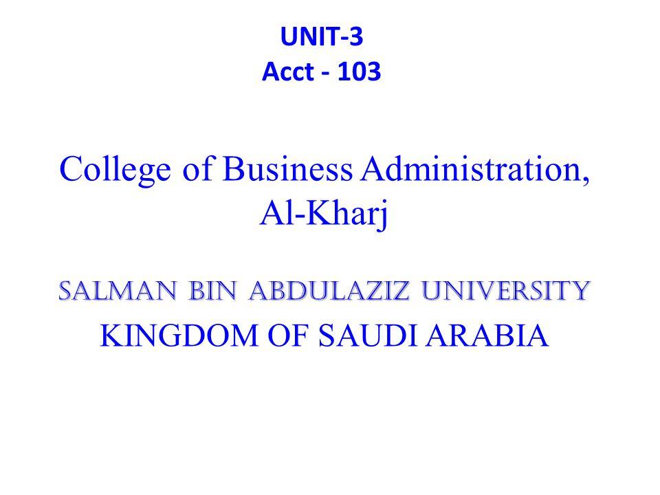 College of Business Administration, Al-Kharj