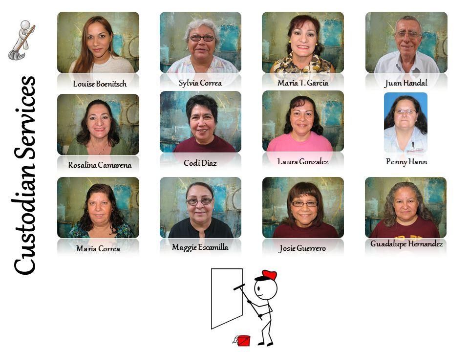 Custodian Services Louise Boenitsch Sylvia Correa Maria T. Garcia