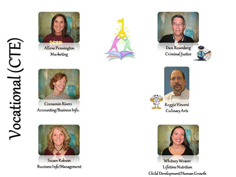 Vocational (CTE) Allene Pennington Dan Rosenberg Marketing