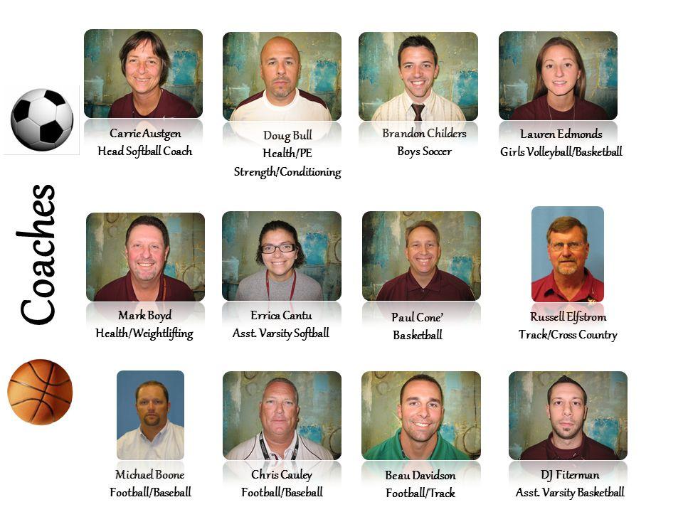 Coaches Carrie Austgen Head Softball Coach Doug Bull Health/PE