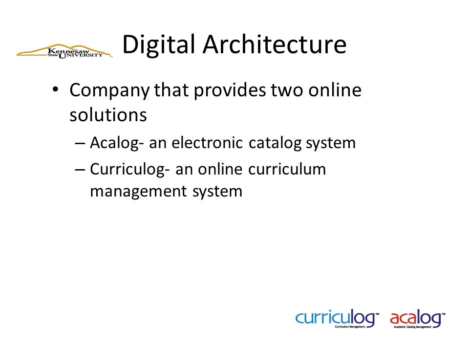 Digital Architecture Company that provides two online solutions