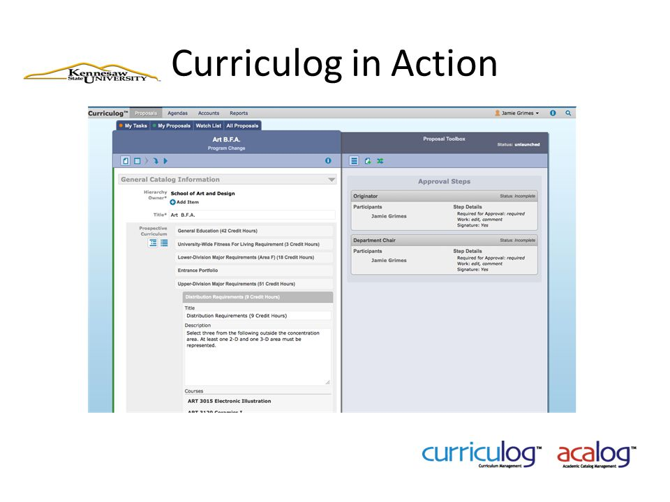 Curriculog in Action