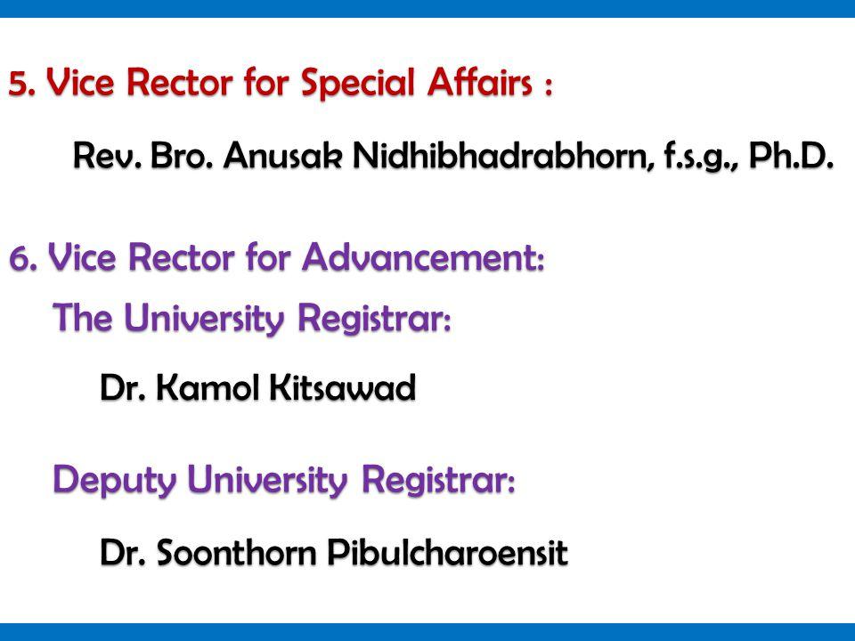 Rev. Bro. Anusak Nidhibhadrabhorn, f.s.g., Ph.D.