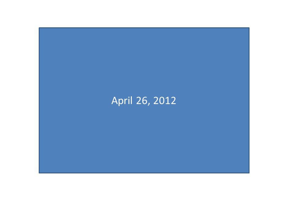 April 26, 2012