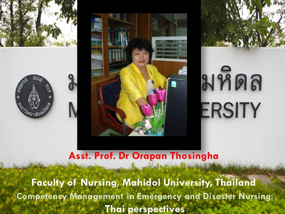 Asst. Prof. Dr Orapan Thosingha