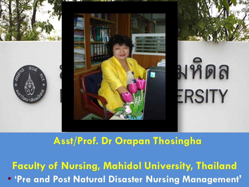 Asst/Prof. Dr Orapan Thosingha