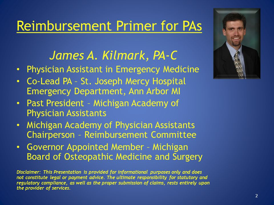 Reimbursement Primer for PAs