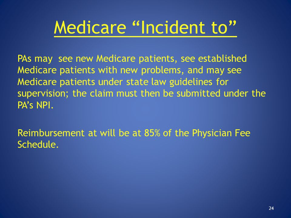 Medicare Incident to