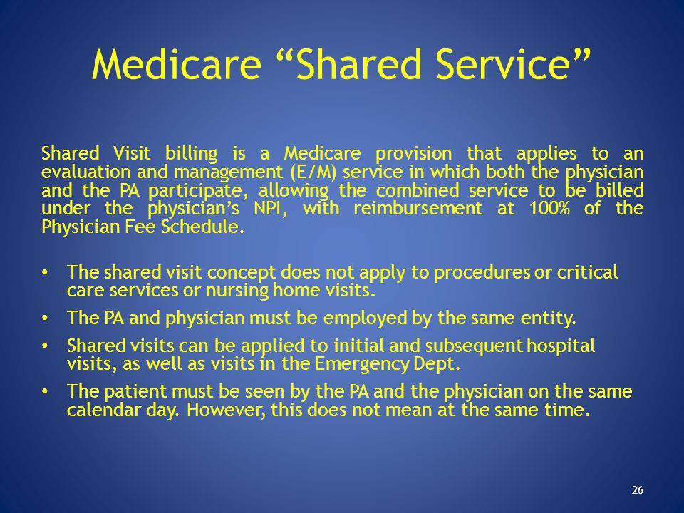 Medicare Shared Service