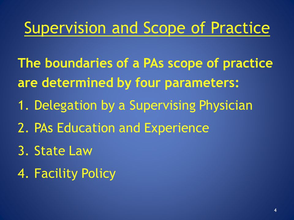 Supervision and Scope of Practice