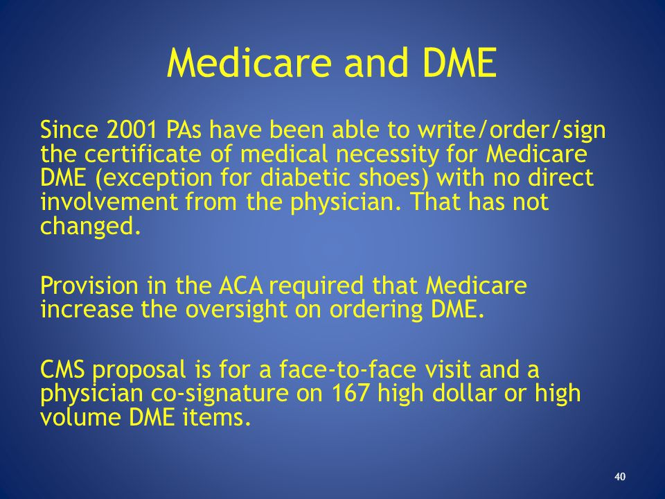 Medicare and DME