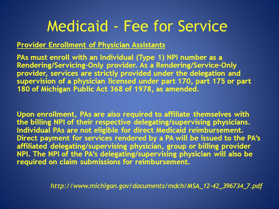 Medicaid - Fee for Service