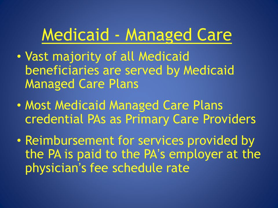 Medicaid - Managed Care