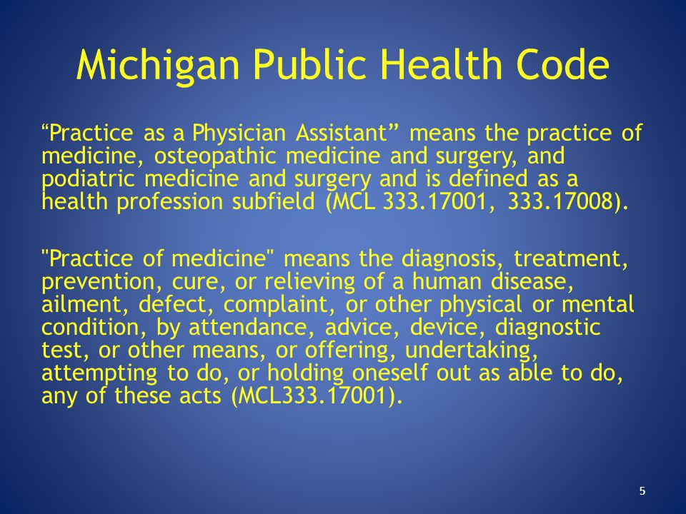 Michigan Public Health Code
