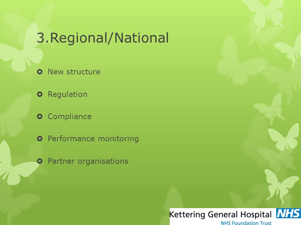 3.Regional/National New structure Regulation Compliance