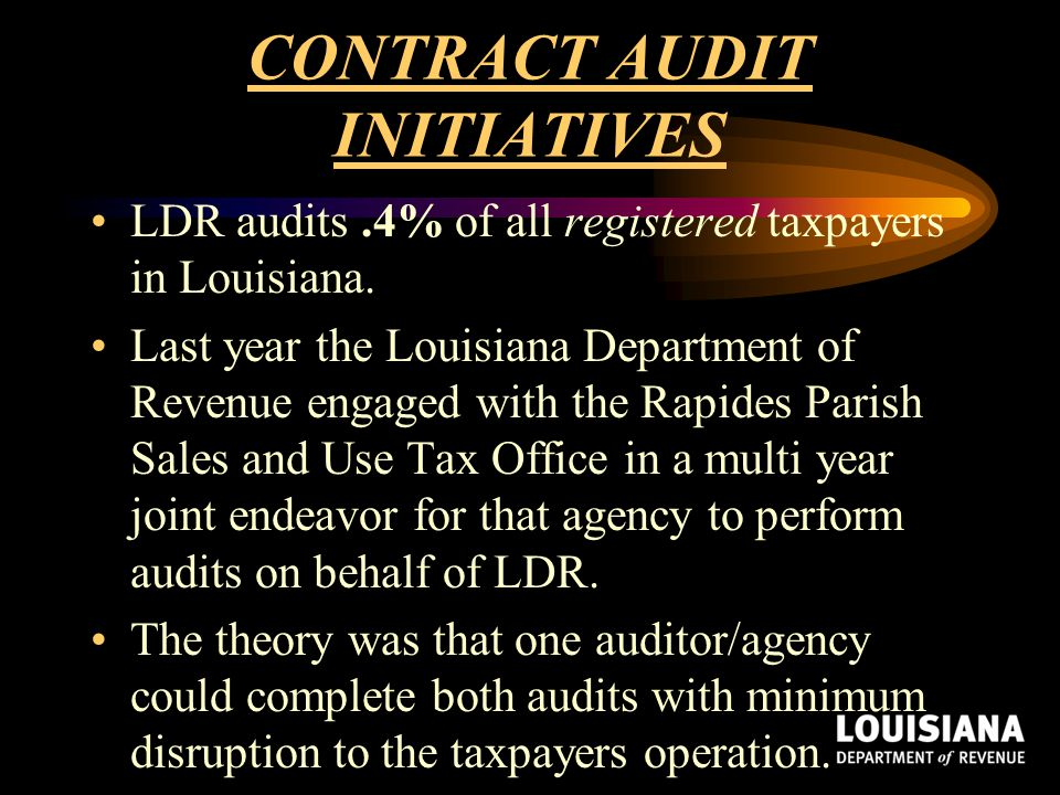 CONTRACT AUDIT INITIATIVES