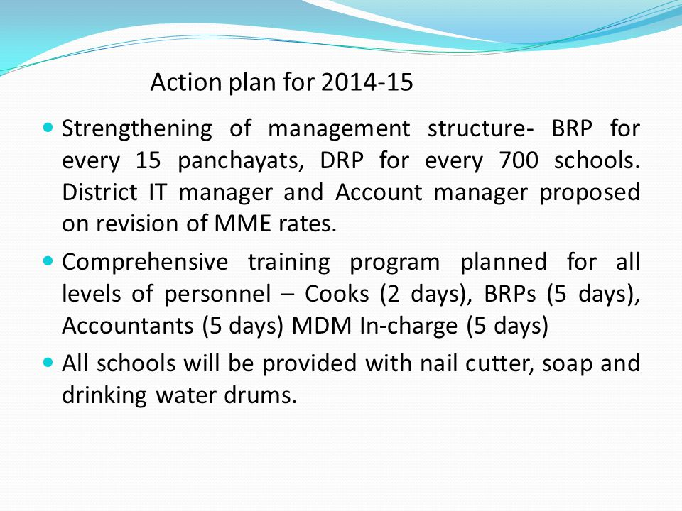 Action plan for 2014-15