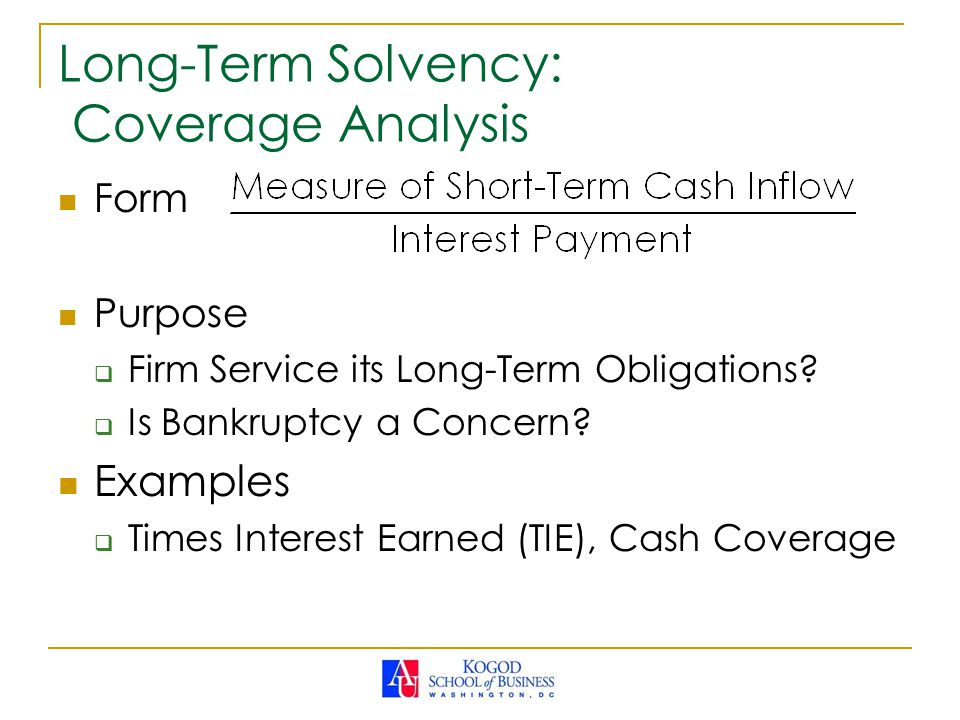 Long-Term Solvency: Coverage Analysis