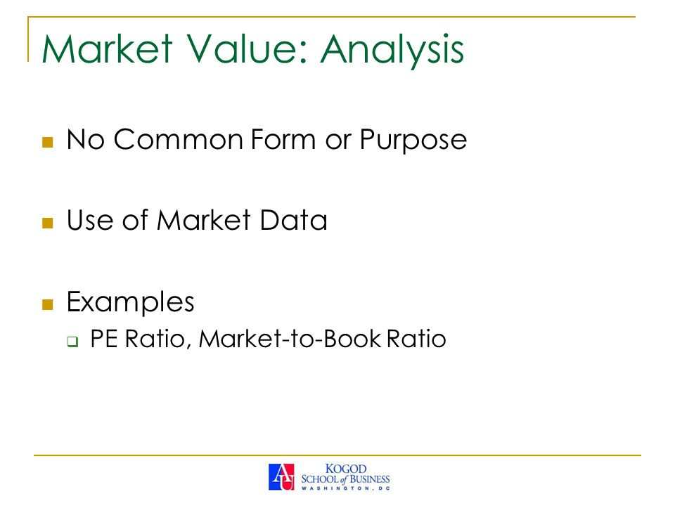 Market Value: Analysis