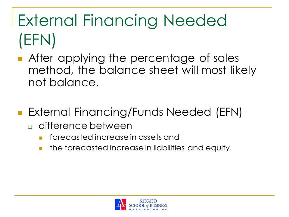 External Financing Needed (EFN)