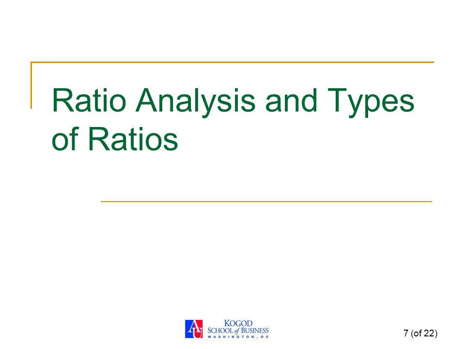 Ratio Analysis and Types of Ratios