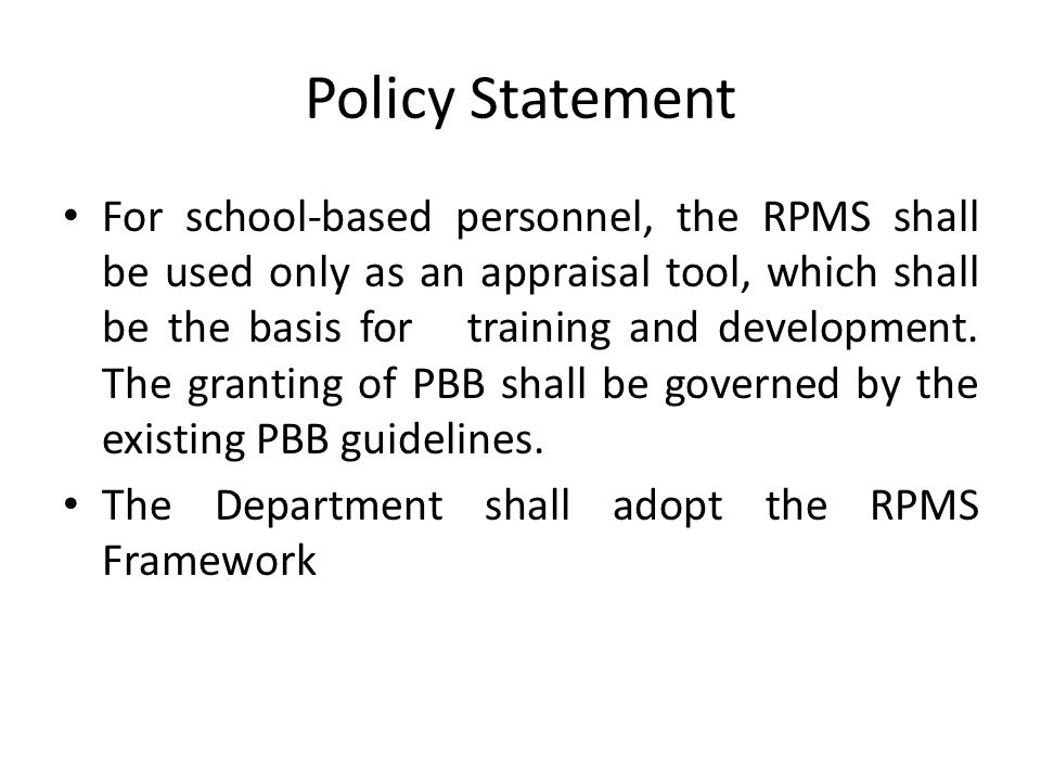 Policy Statement